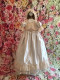 Christie Helene Infant Baby Couture Baptismal Silk Lace Gown