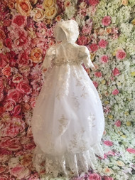 Christie Helene Luxurious Organza Lace Christening Gown For Baby