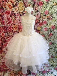 Girls Beautiful Communion Couture Organza Gown By Christie Helene