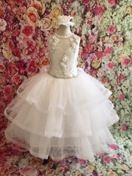 Christie Helene Amazing Organza Beaded Lace Communion Gown