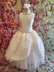Christie Helene Couture Silk Tulle And Lace First Communion Gown
