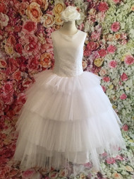 Girls Beautiful Satin Tulle 1st Communion Gown By Christie Helene