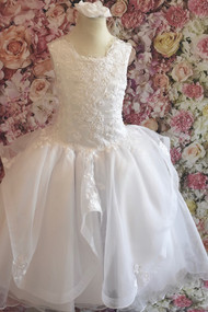 Christie Helene Elite Beaded Organza Girls Communion Gown