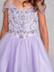 Girls Tulle Pageant Gown With Beautiful  Embellished Beaded Bodice