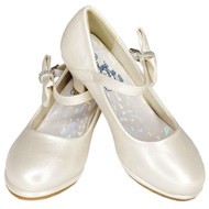 Girls Special Occasion Dressy Shoes With Bow And Rhinestones