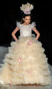 Custom Couture Girls Multi Layered Tulle Flower Girl Pageant Gown
