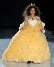 Exquisite Hand Made Couture Girls Ruffled Tulle Pageant Ball Gown