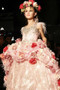 Stunning Custom Couture Beaded Pageant Gown With Fur Hem