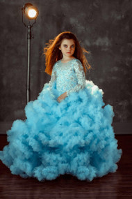 Enchanting Couture Special Occasion Girls Pageant Ruffled Tulle Gown