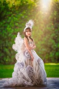 Custom Couture Girls Romantic Chiffon Flower Girl Pageant Gown