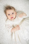 Exquisite Couture Baby Rosette Tulle Baptismal Christening Gown