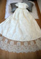 Beautiful Heirloom Baby Couture Christening Baptism Lace Gown