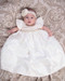 Angelic Baby Couture Handmade Dupioni Silk Christening Gown
