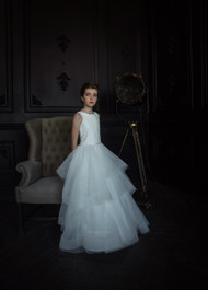 Teter Warm Couture First Communion Flower Girl Lace Tulle Gown