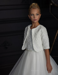Teter Warm Couture Lace Tulle Communion Gown With Matching Jacket
