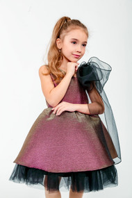 Girls Couture Pageant Party Dress With Organza And Tulle