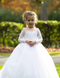 Couture Baby Baptism Dress Girls Communion Flower Girl Lace Gown