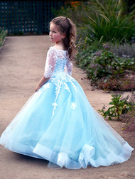 Couture Pageant Flower Girl Gown Baby Special Occasion Party Dress