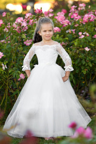 Couture Baby Baptism Communion Flower Girl Special Occasion Lace Dress