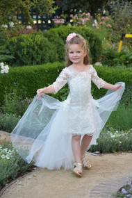 Off The Shoulder Lace Communion Pageant Flower Girl Special Occasion Dress