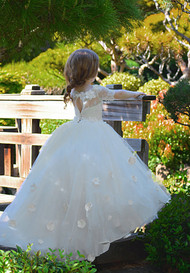 Couture Princess Pageant Flower Girl Communion Dress Baby Christening Gown