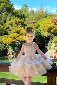 Girls Short Pageant Flower Girl Party Dress Baby Toddler Tulle Birthday Dress