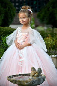 Beautiful Flower Girl Pageant Communion Dress Baby Christening Gown