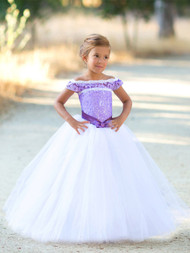 Satin Lace Pageant Communion Flower Girl Dress Party Dress For Toddler