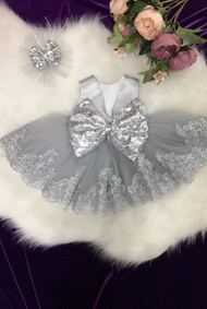 Beautiful Baby Satin Tulle Pageant Dress Flower Girl Sequin Satin Dress