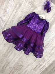 Jewel Couture Sequin Tulle Pageant Dress Baby Toddler Pageant Tulle Dress
