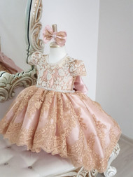 Hi Lo Lace Flower Girl Dress Pageant Baby Toddler Special Occasion Dress