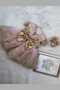 Sparkling Girls Pink Gold Party Pageant Dress With Satin Lace And Tulle