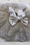 Stunning Girls Pageant Party Dress Baby Satin Tulle Pearl Lace Dress