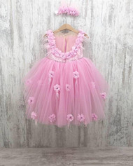 Custom Flower Girl Dress Toddler Flower Tulle Party Special Occasion Dress