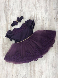 Handmade Girls Satin Tulle Lace Dress Toddler Girl Party Pageant Dress
