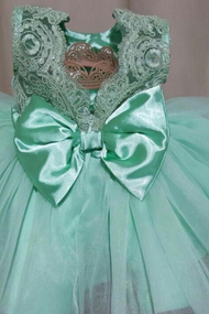 Girls Pageant Dress With Lace And Satin Toddler Baby Special Occasion Dress