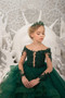 Girl Pageant Lace Tulle Gown Special Occasion Flower Girl Birthday Dress