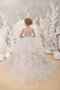 Tulle Flower Girl Dress Birthday Party Girl Special Occasion Gown 3D Flowers
