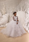 Girls Communion Lace Tulle Gown Flower Girl Special Occasion Dress