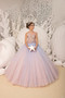 Multi Color Lace Tulle Pageant Girl Dress Flower Girl Party Tulle Gown