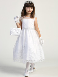 Girls First Communion Dress Dress Embroidered Beaded Lace Girls Dress