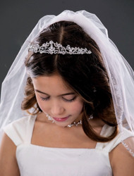Communion Swarovski Tiara Girls Headpiece Flower Girl Birthday Tiara
