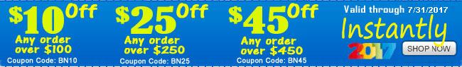 Extra $10 - $25 -$45 OFF