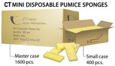 CT Mini Disposable Pumice Pads Coarse 1600pc - Yellow