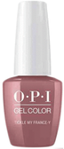OPI GelColor  Pro Health Tickle My France-Y - .5 Oz / 15 mL