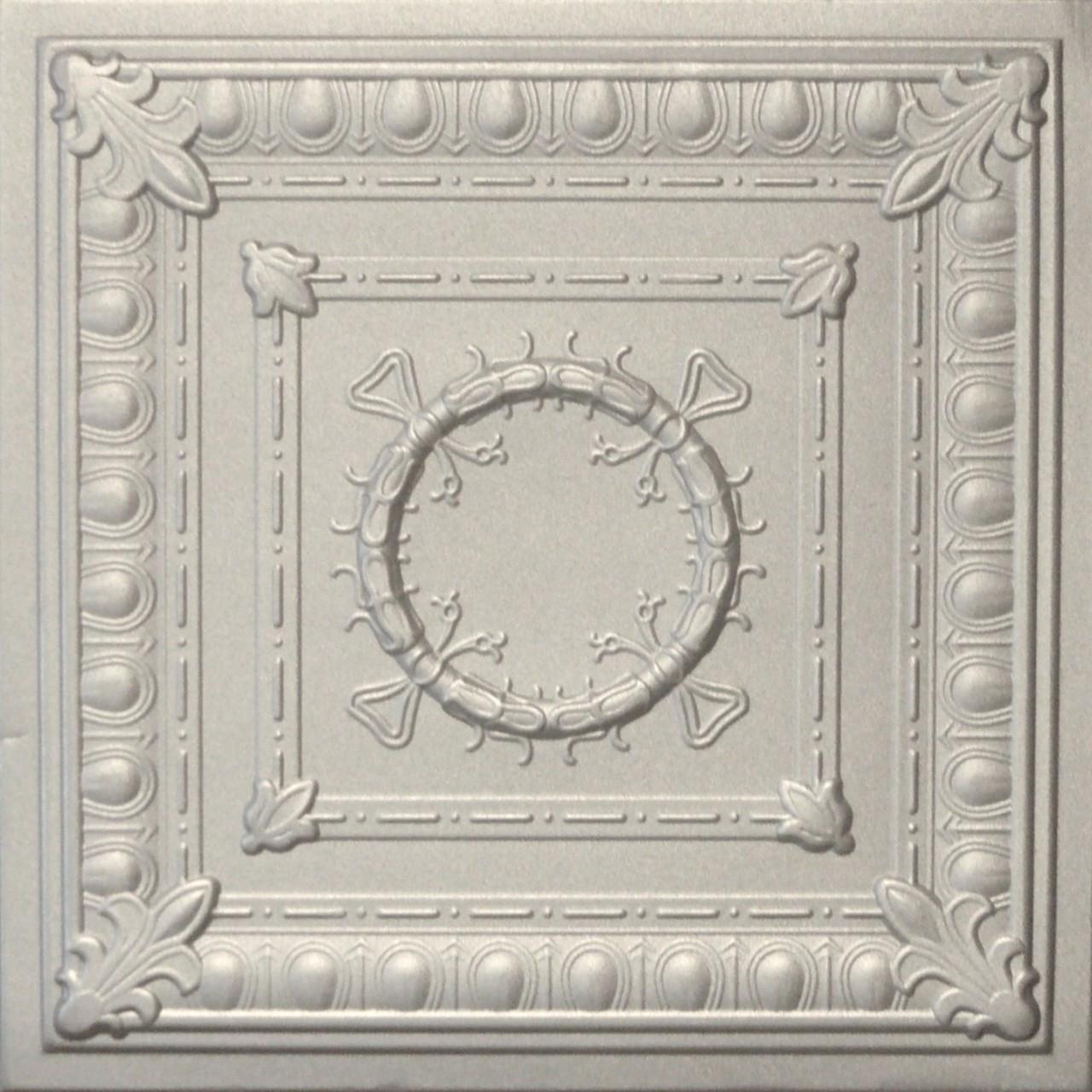 R47 Silver Styrofoam Ceiling Tile 20x20 R47silver