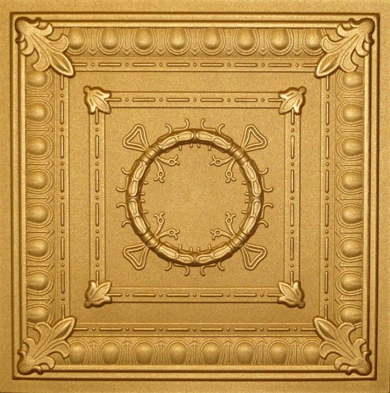 R47 Gold Styrofoam Ceiling Tile 20x20 R47gold