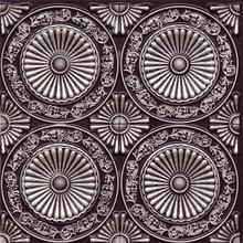 """235 Faux Tin Ceiling Tile - Glue-up - 24"""" x 24"""" - Antique Silver"""