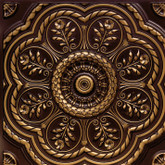 D240 Faux Tin Ceiling Tile - Antique Brass