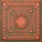 R47 Copper Patina Extruded Styrofoam Ceiling Tile 20x20